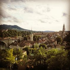 A city view from the rose garden in Bern.
