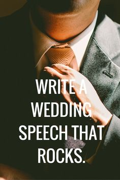 Ultimate Guide to Writing & Delivering a Great Wedding Speech or Toast Essential Components Every Speech Needs to Rock – Make Your Speech personal – Add a Touch of Humor (But Not Too Much) – Thank Everyone Who Deserves a Thank-You – Write a Strong Speech Opener & Closer – The Ideal Speech Length – ...