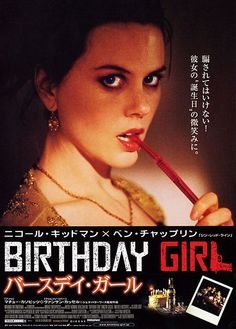 Birthday Girl , starring Nicole Kidman, Vincent Cassel, Ben Chaplin, Mathieu Kassovitz. A thirtysomething bank clerk from St Albans has his small-town life exploded by the arrival of his Russian mail-order bride. #Comedy #Crime #Thriller