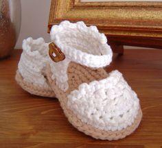 CROCHET PATTERN Baby Espadrille Sandals instant por matildasmeadow