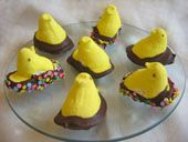 Favorite Easter Candy Recipes: Chocolate-Dipped Peeps