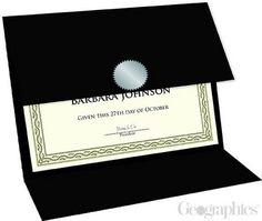 "Black Linen Certificate Holders Tri-Fold, 9.25""x12.5"", 5/PK"
