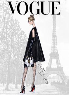 Vogue fashion drawings. Hayden Williams