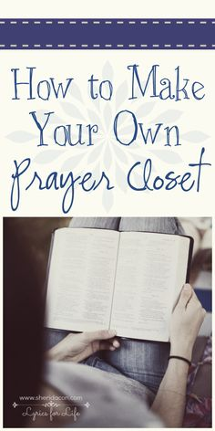 ♥✟ Interested in creating your own private prayer closet? It's easier than you might think and it just might revolutionize your prayer life!