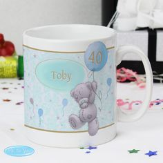 This Me To You Mug can be personalised on the front with a name up to 12 characters in length.