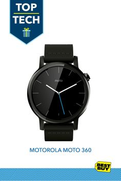 Motorola Moto 360 2nd Generation Men's Smartwatch for Most Apple® iOS and Android Mobile Phones - Black :: Wearable tech has become one of the hottest must-haves. But in a world of activity trackers, fitness bands, smartwatches and more, the Moto 360 stands out. The Moto 360 smartwatch connects to all aspects of life, from fitness to work to personal. It pairs with most iOS and Android devices, is easily navigated, provides access to loads of apps AND is available in different styles.