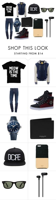 """""""Diego/Verónica"""" by mark-tuan ❤ liked on Polyvore featuring Aéropostale, Dsquared2, OMEGA, Michael Kors, 21 Men, Ports 1961, Ray-Ban, Master & Dynamic, men's fashion and menswear"""