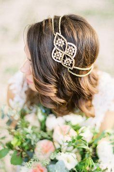 Aleris Bronze Braut Headpiece von BrideLaBoheme auf Etsy