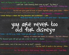 You are never too old for a disney movie!!