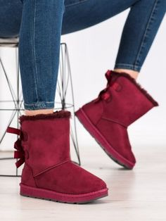 Bordové snehule s mašľou Bearpaw Boots, Ugg Boots, Uggs, Shoes, Fashion, Moda, Zapatos, Shoes Outlet, Fashion Styles