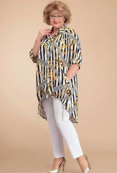 Curvy Outfits, Plus Size Outfits, Casual Outfits, Over 50 Womens Fashion, Plus Size Fashion For Women, Casual Tops For Women, Trendy Tops, Dressy Dresses, Stylish Dresses
