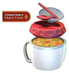 Stay Fit Soup/Meal Container, EZ Heat For kids' lunch!