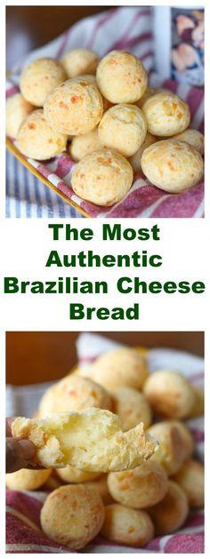 THE MOST AUTHENTIC BRAZILIAN CHEESE BREAD (PÃO-DE-QUEIJO). It's naturally gluten free!!