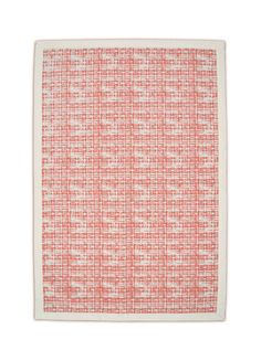 Printed cotton rug coral color texture print weave by VLiving