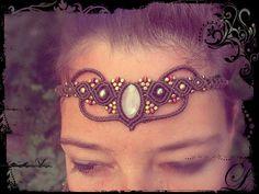 Fairy Macrame Tiara or Necklace Moonstone Choker Collier Hemp Jewelry, Macrame Jewelry, Crazy Cat Lady, Crazy Cats, Macrame Modern, Magic Knot, Micro Macramé, Head Pieces, Treehouses