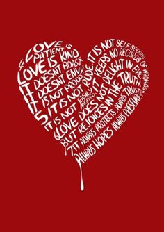 <3<3 Love is patient...Love is kind...