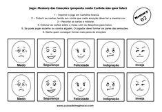 Carlota jogo memory emoções 2 colorir pintar Teaching Emotions, Cartoon Faces, Primary Education, Yoga For Kids, Emotional Intelligence, Psychology, Motivational Quotes, Stress, Feelings