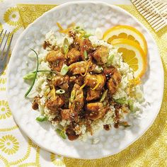 Looking for an alternative to rice? Consider serving this stir-fry recipe with riced cauliflower, as shown in Diabetes Forecast magazine.