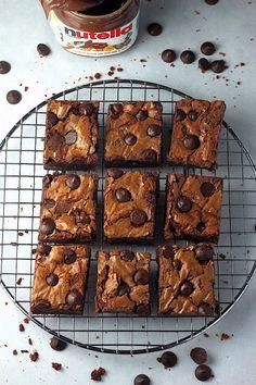 One Bowl Nutella Fudge Brownies