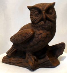 Vintage Red Mill Resin Owl Figurine SOLD