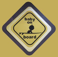 Baby on Board Card by mbsquareddesigns on Etsy