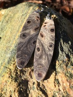 Swirly Burl Matches Any Outfit Grey California Buckeye Burl by forestlifecreations on Etsy