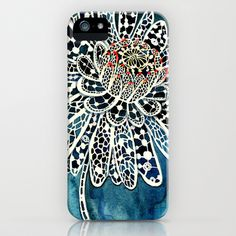 Flower Paintings: Lace Flower iPhone & iPod Case by Luella Spark - $35.00
