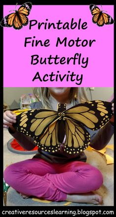 Butterfly life cycle craft project for classroom science STEM activities.