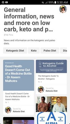 General Information, News and More On Low Carb, Keto & Paleo Board with 316 Pins ... ... ... http://pin.it/M7L5OUu ... ... ...   @ketosisdiet