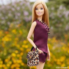 A monochromatic look paired with the perfect pop of print!  #barbie #barbiestyle