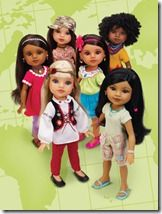 Hearts for Hearts Girls dolls. Each doll represents a real girl and raises money for her education.