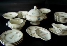 Dinette, Céramique de Sarreguemines, Passe-temps Doll Furniture, Tea Sets, Handicraft, Nostalgia, Antiques, Children, Brown, Tableware, Gifts
