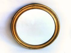 Mid Century Wall Mirror Large Vintage Gilded Wood by Lunartics