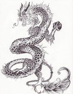 китайский дракон рисунок карандашом: 25 тыс изображений найдено в Яндекс.Картинках