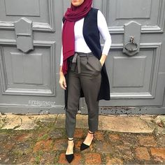 Dressy pants with hijab – Just Trendy Girls Hijab Casual, Hijab Outfit, Pants Outfit, Modest Wear, Modest Outfits, Casual Dresses, Casual Outfits, Classy Outfits, Winter Outfits
