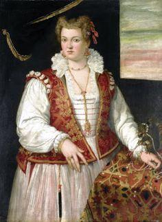 Francesco Montemezzano – Retrato de Mulher com Esquilo – 1565-75