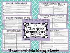 3 Teacher Chicks: Common Core Checklist FREEBIE!
