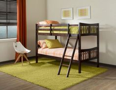 The Storkcraft Caribou Twin Over Twin Bunk Bed offers you a unique and versatile way to outfit your spare room or child's bedroom with sleeping spaces. Low Bunk Beds, Kids Bunk Beds, Boys Bedroom Furniture, Kids Furniture, Contemporary Bunk Beds, Kids Storage Units, Single Bunk Bed, Kids Sofa, Bed Reviews