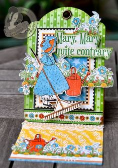 Susan Lui's stunning Mother Goose Easel Card - wow! #graphic45 #cards