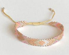 Loom Bracelet Patterns, Bead Loom Patterns, Loom Bracelets, Gemstone Bracelets, Quilt Patterns, Handmade Jewelry Bracelets, Cute Jewelry, Diy Jewelry, Jewelry Making
