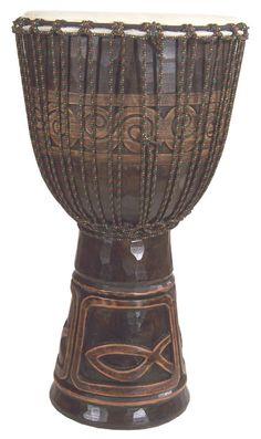 Icthus Djembe Drum 9 X 20