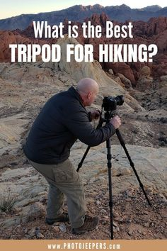 If you're a photographer who also hikes, then you need a good compact, lightweight tripod. Use this list of small travel tripods that are perfect for taking with you on your hiking adventures. Types Of Photography, Photography Gear, Photography Equipment, Portrait Photography, Wedding Photography, Outdoor Photography, Camera Gear, Leica Camera