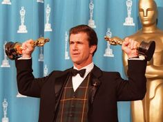 Pin for Later: All the Fun Vintage Pictures From the Oscars Press Room  Mel Gibson, 1996