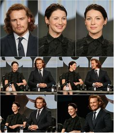 """farfarawaysite: """" Site Update: HQ Tagless Photos Of Caitriona Balfe & Sam Heughan (x) More Photos Will Be Added At The Link As They Are Available Please reblog. Link back to the gallery if you repost..."""