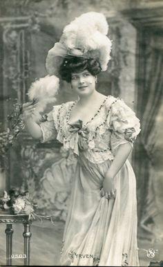 Marcelle Yrven   Vintage French RPPC Postcard Artist Stage Star Miss Yrven   eBay