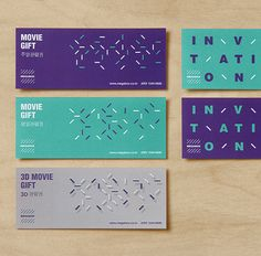 Megabox identity designed by Studio Fnt (Seoul)