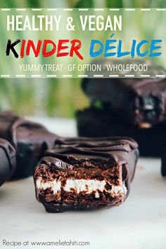 Vegan Kinder Délice - Healthy & Wholefoods (Recipe at www.amelietahiti.com) #kinder #kinderdelice #vegan
