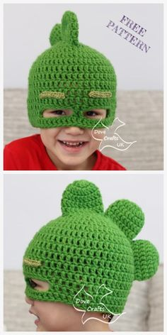 PJ Mask Hat Free Crochet Patterns – DIY Magazine Crochet Gekko PJ Mask Hat Free Crochet Patterns You are in the right place about Crochet. Slouch Hat Crochet Pattern, Bonnet Crochet, Crochet Mask, Crochet Beanie, Booties Crochet, Crochet Winter Hats, Crochet Kids Hats, Crochet For Boys, Kids Crochet Hats Free Pattern