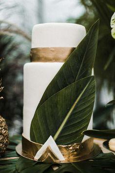 Tropische Hochzeitstorte
