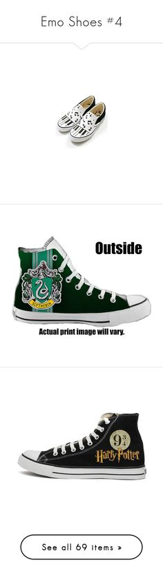 """""""Emo Shoes #4"""" by falloutromanceandthecellabration ❤ liked on Polyvore featuring shoes, sneakers, vans, shoes/socks, harry potter, checkered shoes, converse footwear, checkerboard shoes, flat shoes and converse shoes"""